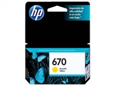 CARTUCHOS HP 670 AMARILLO X UNIDAD