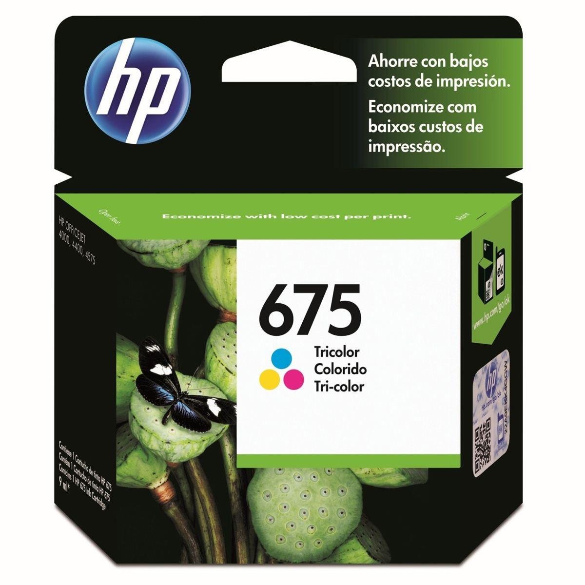 CARTUCHOS HP 675 COLOR X UNIDAD