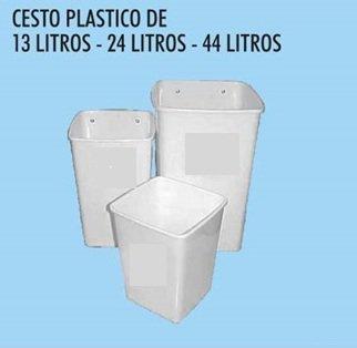 CESTO PLASTICO DE 24LTS C/ TAPA BASCULANTE X UNID